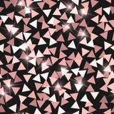 текстура яркия блеска безшовная Прелестные розовые частицы Бесконечная картина сделанная сверкная треугольников славно бесплатная иллюстрация