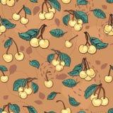 текстура яркого плодоовощ вишни безшовная Стоковое фото RF