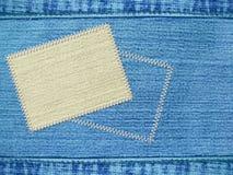 текстура ярлыка джинсыов предпосылки Стоковое Изображение RF