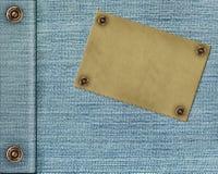 текстура ярлыка джинсыов предпосылки Стоковые Изображения RF