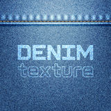 Текстура джинсовой ткани Стоковое Фото