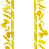 текстура 2 макаронных изделия Стоковые Фотографии RF