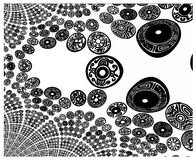текстура bw Иллюстрация вектора