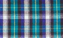 Текстура checkered шерстяной ткани Стоковое фото RF