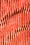 текстура corduroy померанцовая undulating Стоковое Изображение RF