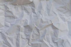 Текстура creased белизной бумажная Стоковая Фотография RF