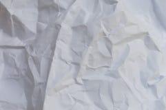 Текстура creased белизной бумажная Стоковая Фотография