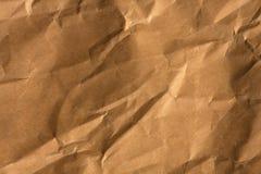 текстура crinkled коричневым цветом бумажная Стоковая Фотография RF