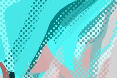 Абстрактная современная предпосылка Творческие красочные формы и формы Геометрическая картина Текстура Cyan и пинка яркая графиче иллюстрация штока