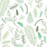 Текстура Doodle богато украшенная флористическая безшовная Стоковое Изображение