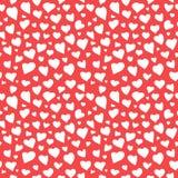 Текстура Doodle картины абстрактных сердец безшовная Стоковая Фотография RF