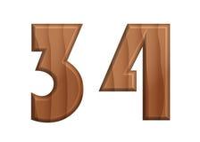 Текстура font-30 природы деревянная Стоковые Фотографии RF