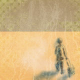 Текстура Grunge бумажная, винтажная предпосылка Стоковые Фото