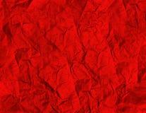 Текстура Grunge красная бумажная Стоковые Фото
