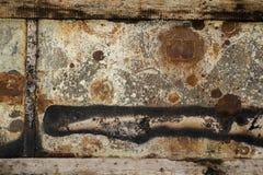 Текстура grunge стены металла ржавчины Стоковая Фотография