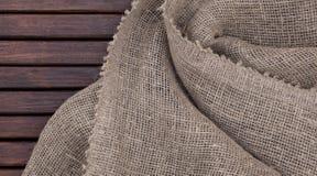 Текстура Grunge темная деревянная и текстура ткани Стоковое Фото