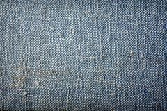 текстура grunge ткани предпосылки голубая Стоковая Фотография RF