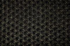 текстура grunge ткани предпосылки черная Стоковые Изображения