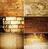текстура grunge установленная Стоковое Изображение