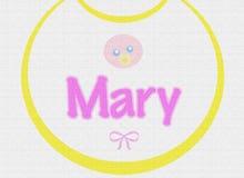 текстура mary bib младенца Бесплатная Иллюстрация