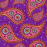 текстура paisley безшовная Стоковая Фотография