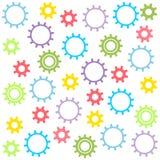 Текстура ` s ребенка покрашенных шестерней на белой предпосылке также вектор иллюстрации притяжки corel иллюстрация вектора