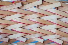 Текстура weave корзины бамбуковая Стоковые Фото
