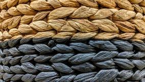 Текстура weave плетеной корзины стоковые фотографии rf