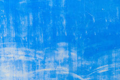 Текстурированная голубая стена с пятнами Стоковое Изображение