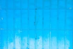 Текстурированная голубая стена с пятнами Стоковые Фотографии RF