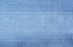 текстурированная джинсовая ткань предпосылки голубая Стоковое Фото