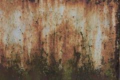 Текстурированная загородка металла ржавая стоковые изображения rf