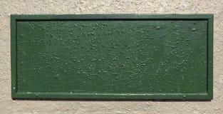 Текстурированная зеленая металлическая пластинка Стоковая Фотография RF