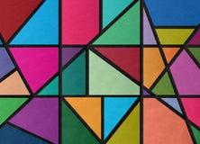 Текстурированная иллюстрация цветного стекла Стоковое Изображение