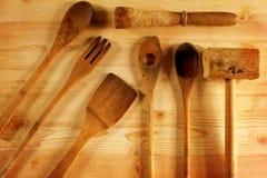 Текстурированная кухня оборудует взгляд положения квартиры Стоковые Изображения RF