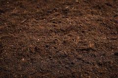 Текстурированная плодородная почва Садовничая сезон стоковое фото rf