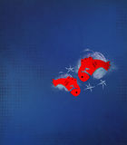Текстурированная предпосылка - Pisces Стоковое Изображение