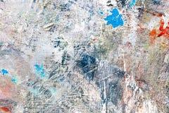 Текстурированная рука покрасила предпосылку холста с помарками и pai цвета Стоковые Фотографии RF