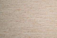 Текстурированная ткань предпосылки большая бежевая Текстура конца-вверх текстильной ткани стоковые фотографии rf