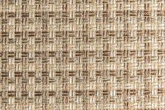 Текстурированная ткань предпосылки большая бежевая Текстура конца-вверх текстильной ткани стоковая фотография rf