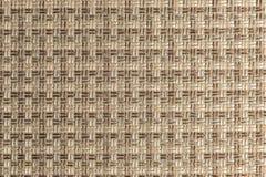 Текстурированная ткань предпосылки большая бежевая Текстура конца-вверх текстильной ткани стоковые изображения