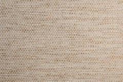 Текстурированная ткань предпосылки большая бежевая Текстура конца-вверх текстильной ткани стоковые изображения rf