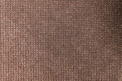Текстурированная ткань предпосылки большая коричневая Текстура конца-вверх текстильной ткани стоковое изображение
