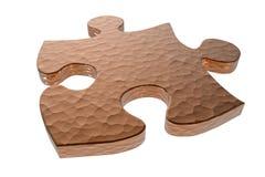 Текстурированная часть головоломки Стоковое Изображение