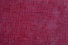 Текстурированная Maroon текстура кожи Стоковые Изображения RF