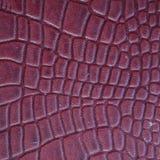 Текстурированная Maroon текстура кожи Стоковая Фотография