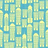 текстурированное безшовное домов предпосылки голубое Стоковое фото RF