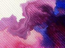 Текстурированное красочное конспекта предпосылки искусства акварели Стоковая Фотография