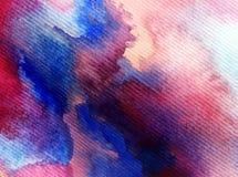 Текстурированное красочное конспекта предпосылки искусства акварели Стоковые Фото
