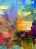Текстурированное красочное конспекта предпосылки искусства акварели Стоковые Фотографии RF